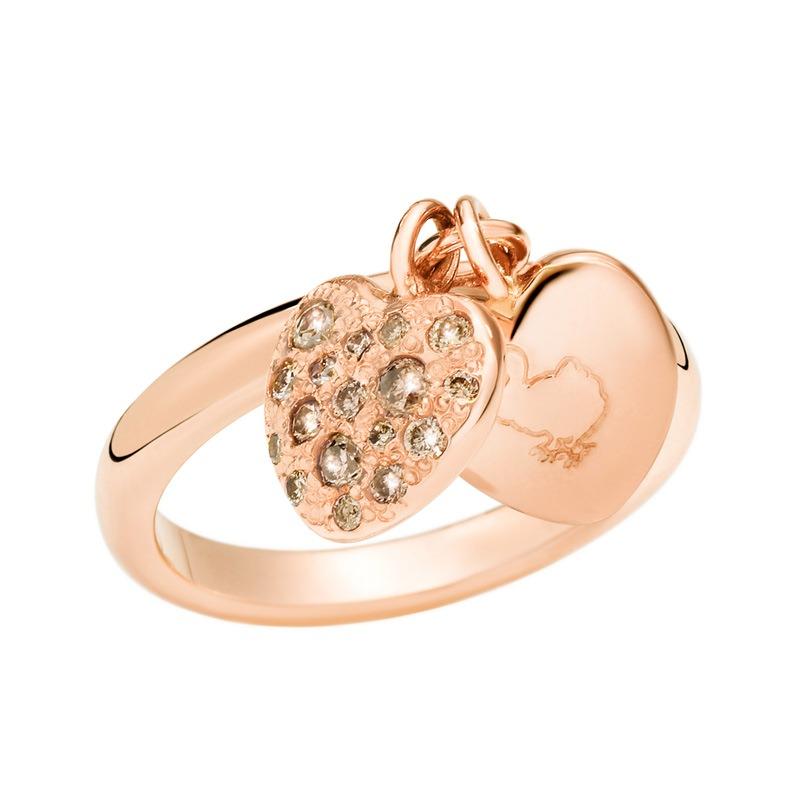 Anello Cuori con diamanti brown Dodo